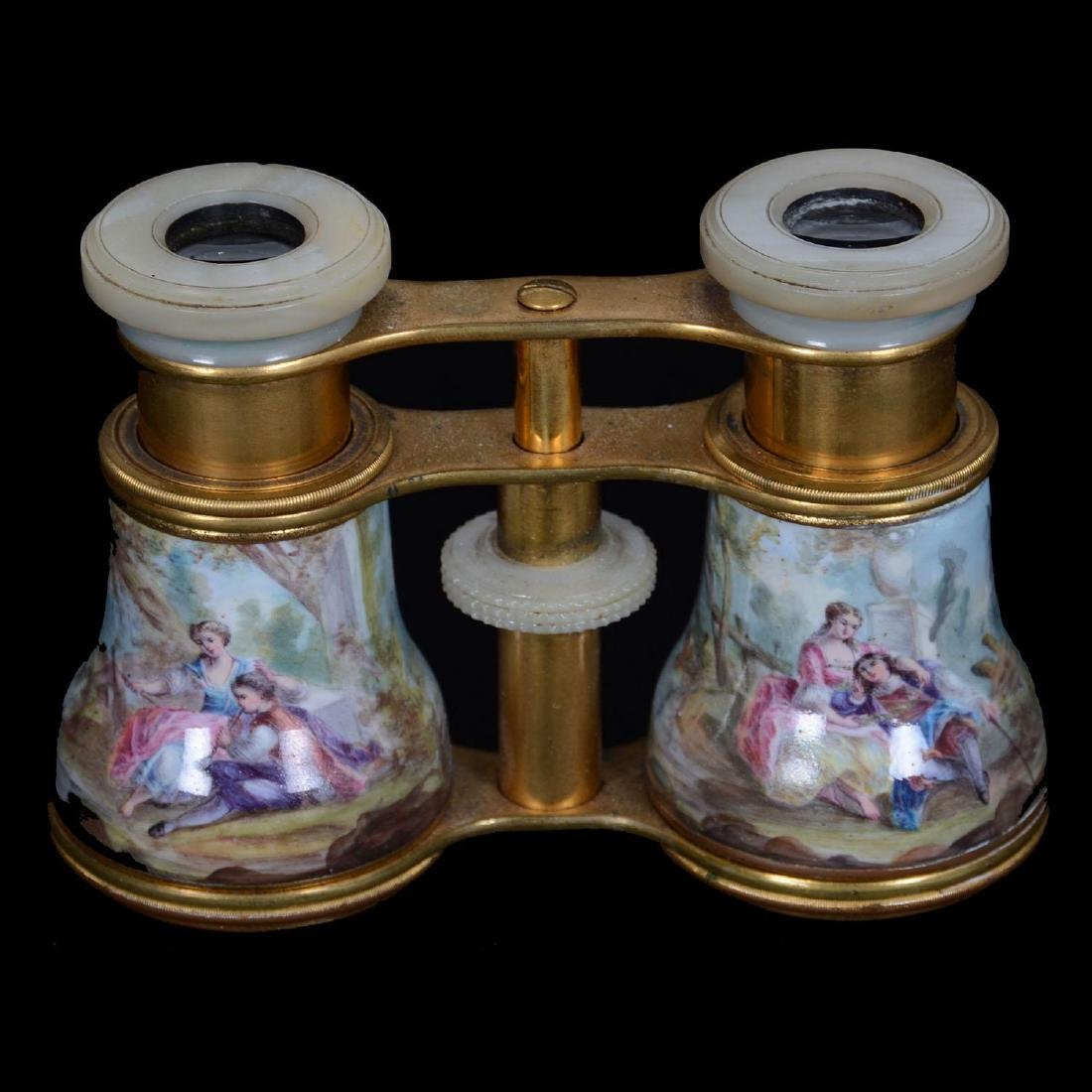 "3"" X 4"" French Enamel Opera Glasses"