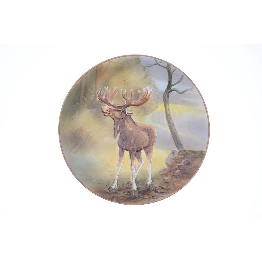 """10.5"""" Nippon (Green Wreath) Blow Out Plaque"""