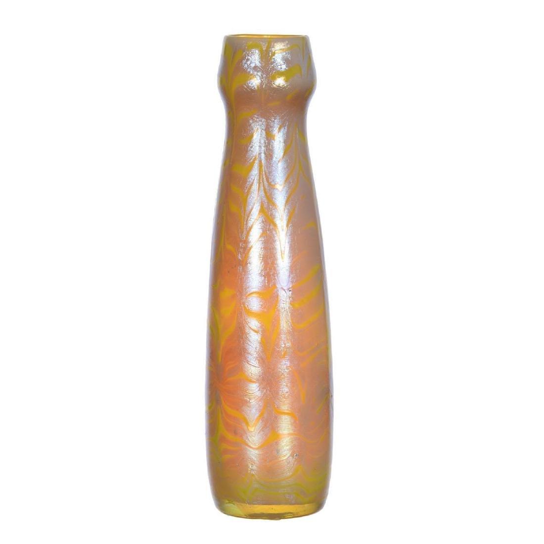 """7.5"""" Signed Loetz Austria Art Glass Vase"""