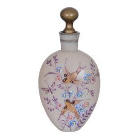 "4.5"" Fireglow Art Glass Perfume Bottle"