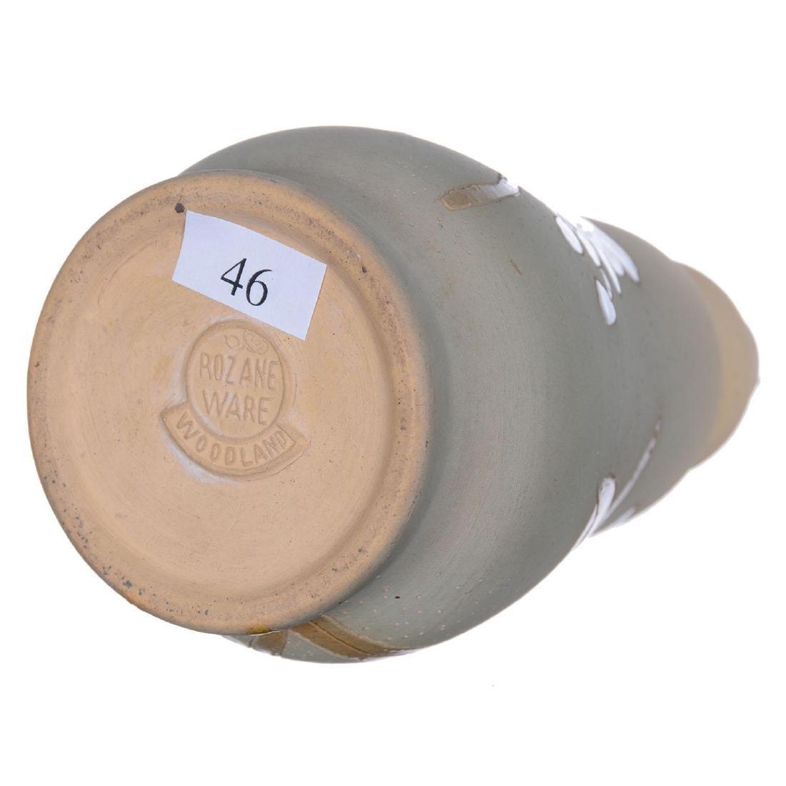 """7.25"""" Marked Rozane Ware Woodland Art Pottery Vase - 3"""