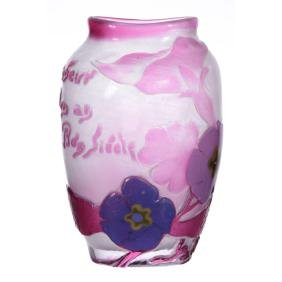 "Extremely Rare! 5.5"" Signed Galle Art Glass Vase"