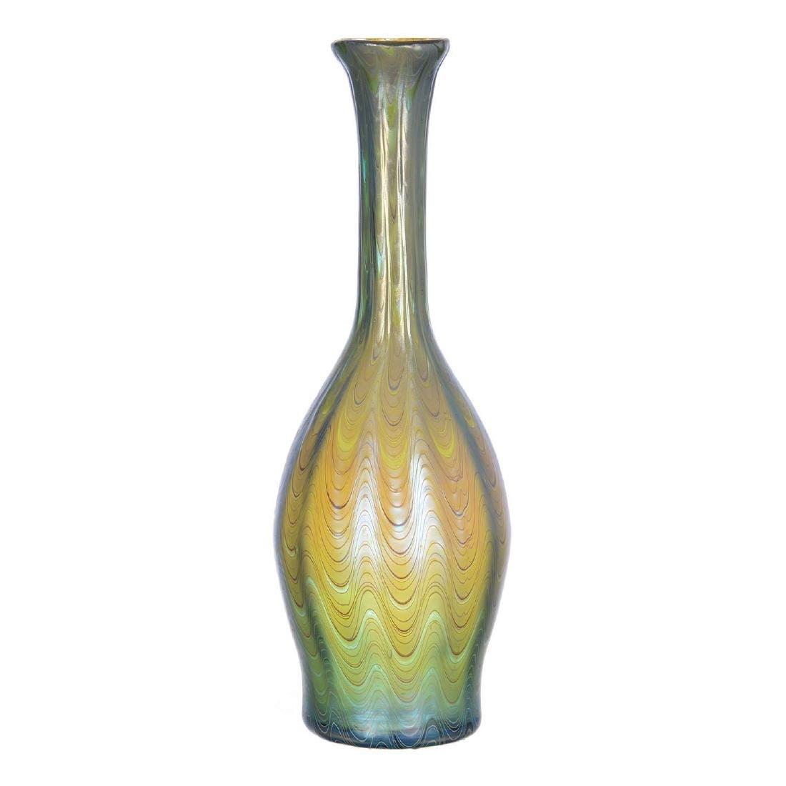"""9.75"""" Signed Loetz Austria Art Glass Vase - 2"""