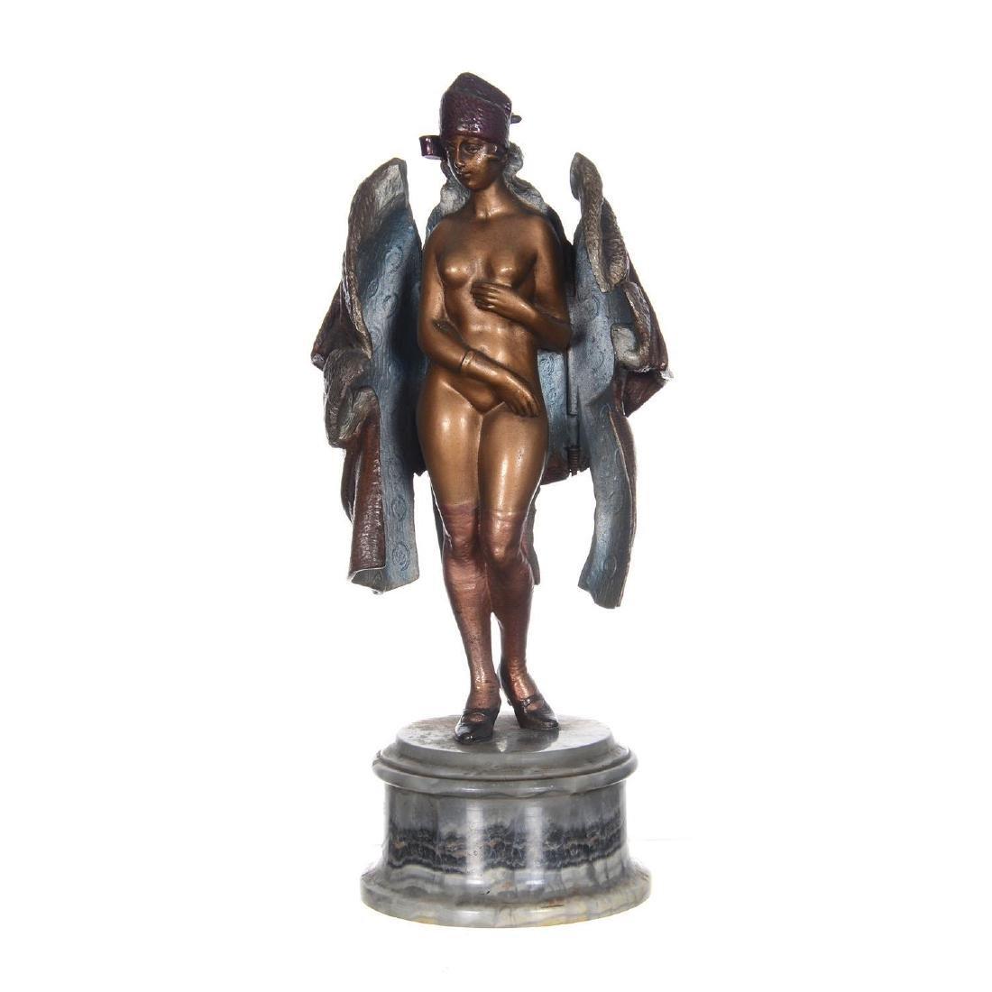 """9.25"""" Austrian Bronze Mechanical Statue"""