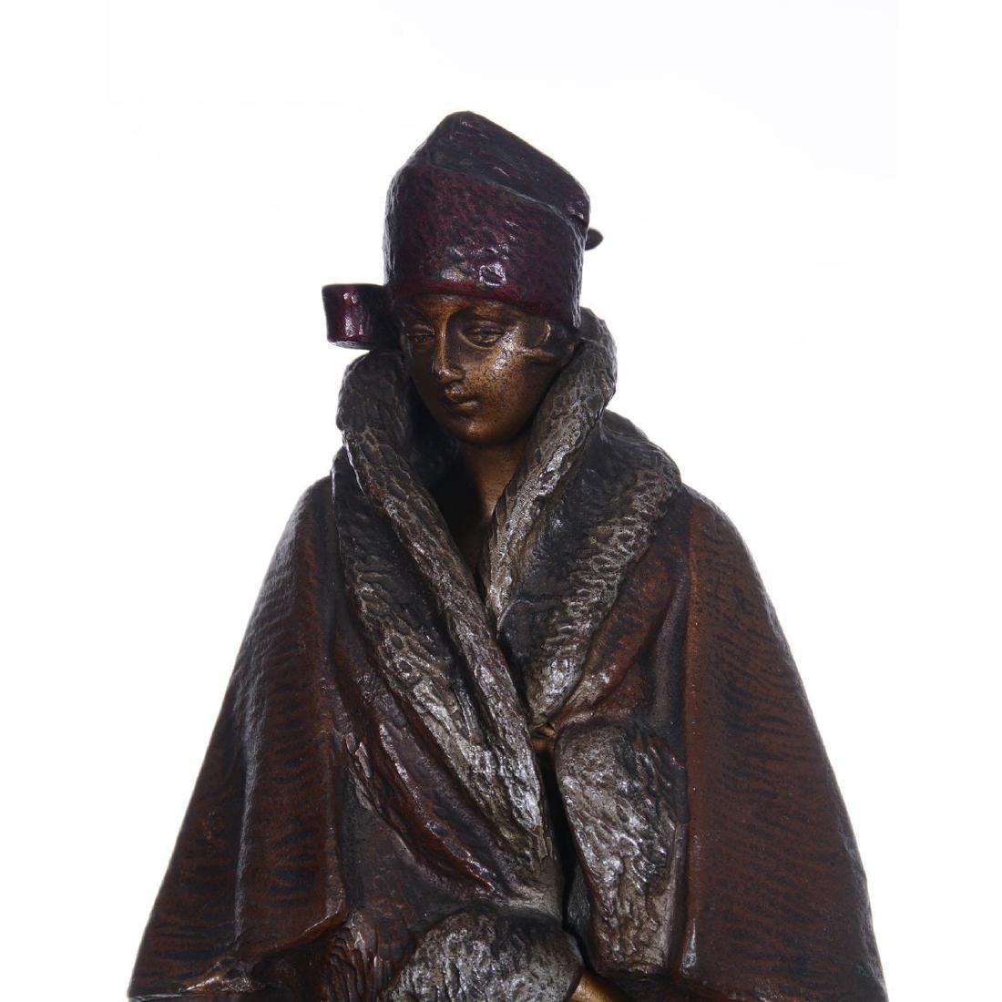 """9.25"""" Austrian Bronze Mechanical Statue - 3"""