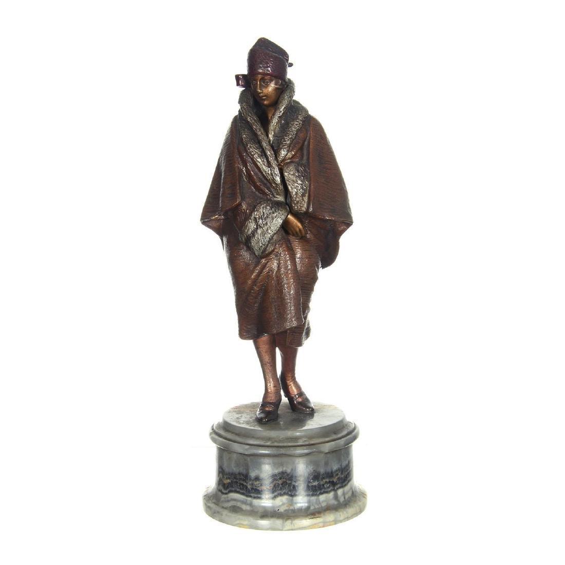 """9.25"""" Austrian Bronze Mechanical Statue - 4"""