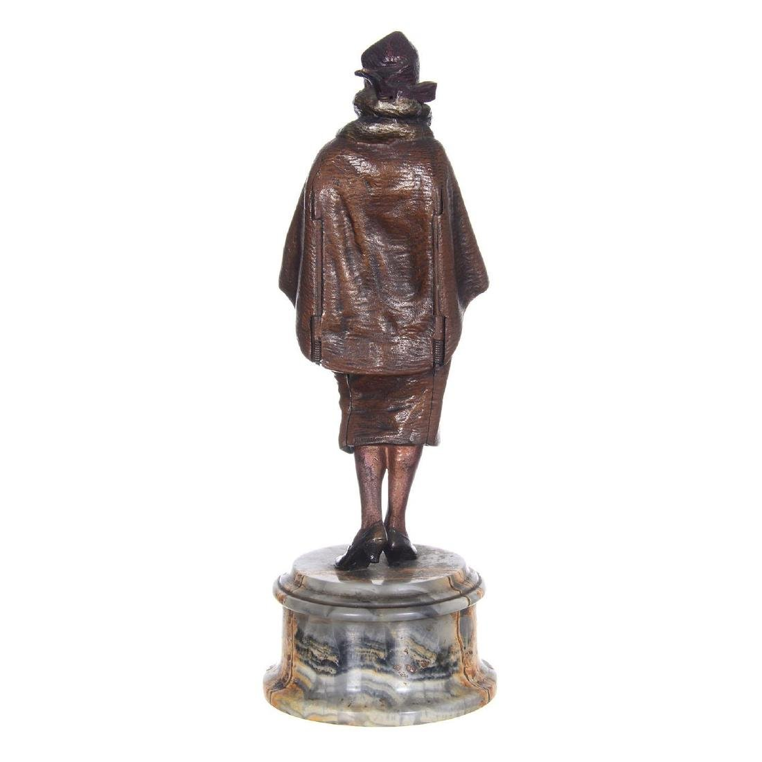 """9.25"""" Austrian Bronze Mechanical Statue - 5"""