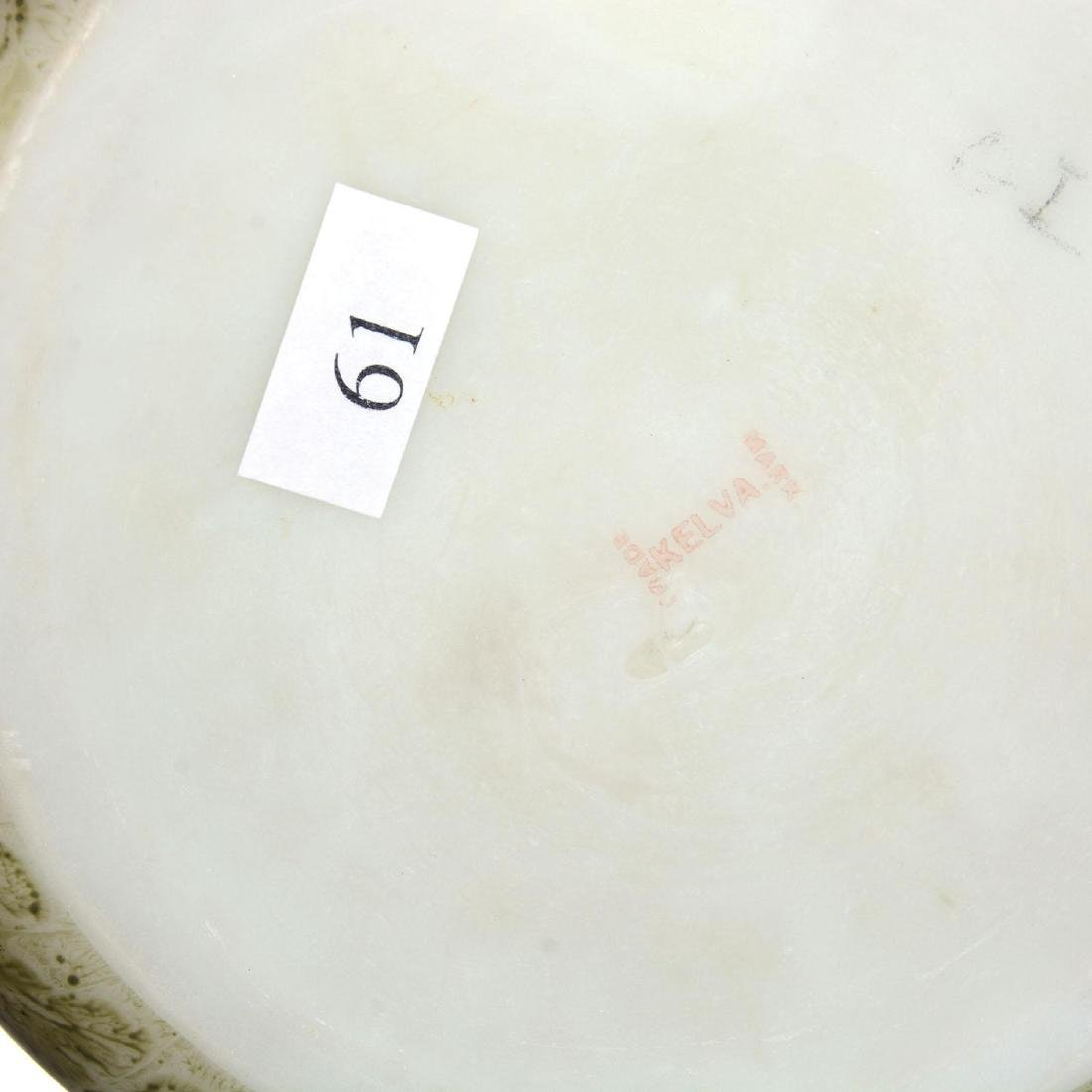 """3.5"""" X 5.5"""" Marked Kelva Round Hinged Dresser Box - 2"""