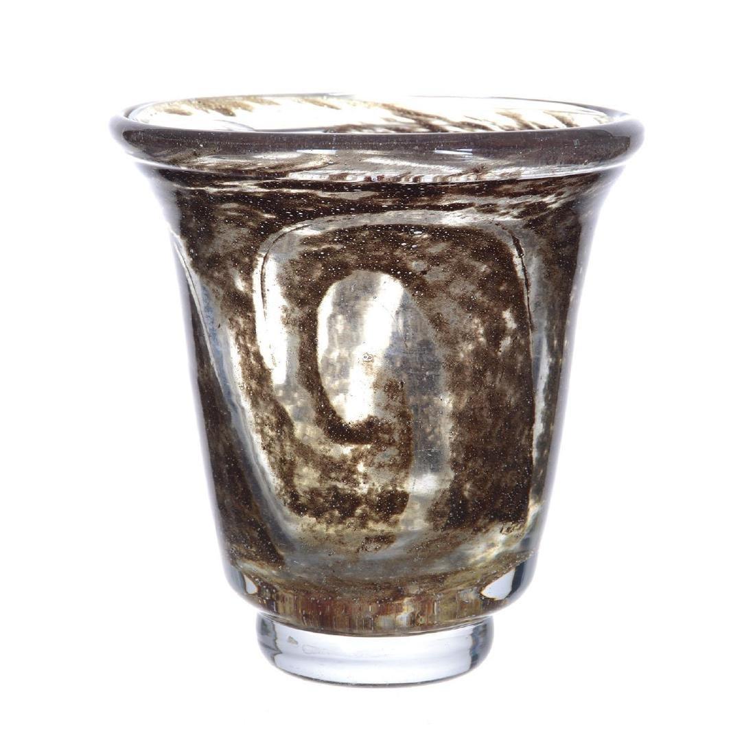 "6.5"" X 6"" Signed ""Andre Thuret"" French Art Glass Vase"