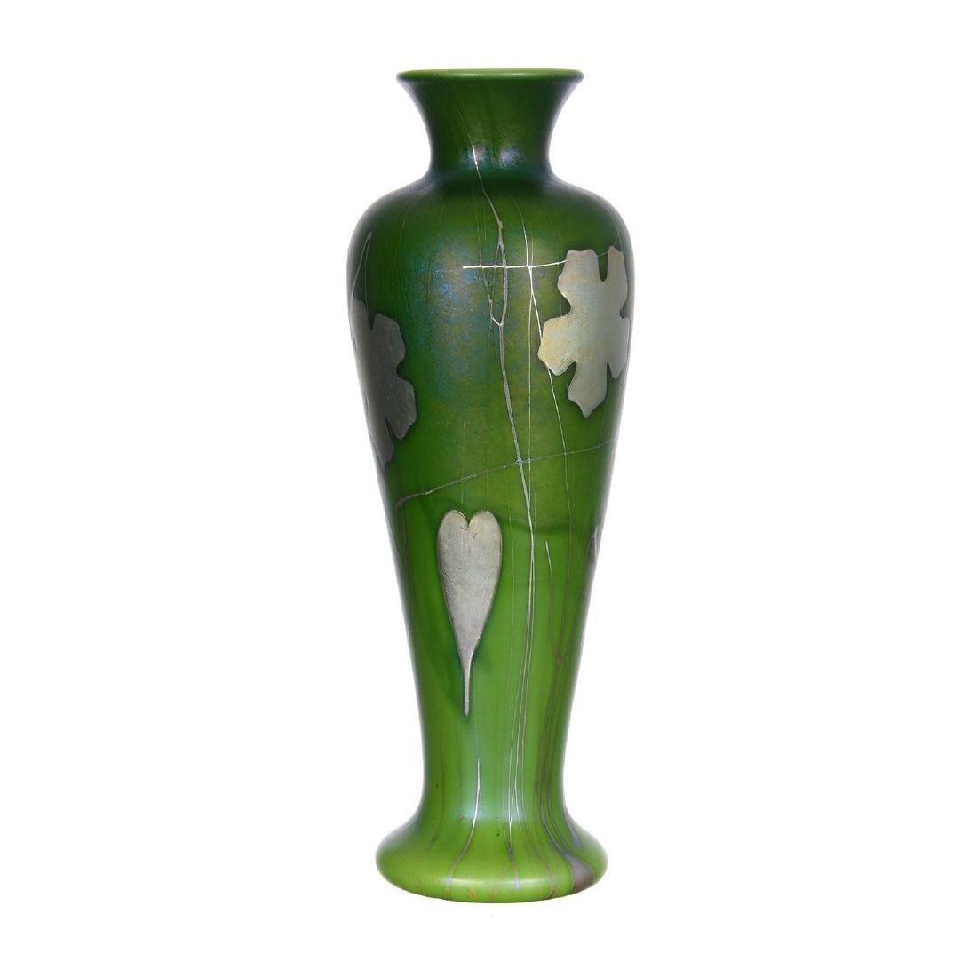 """11.5"""" Signed Aurene Art Glass Vase"""