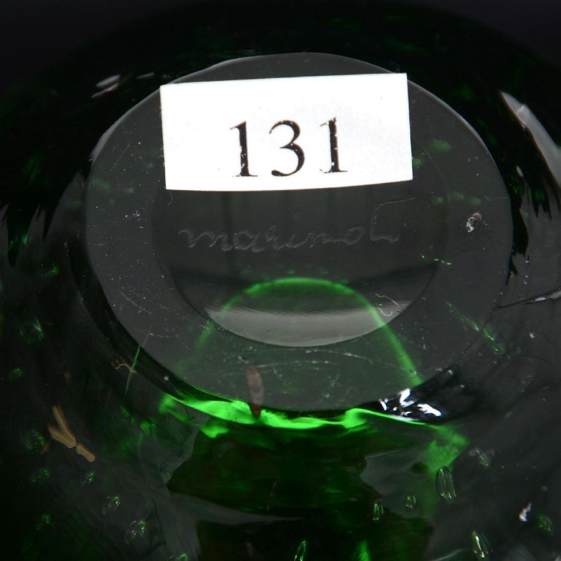 """5.75"""" X 4.75"""" Signed """"Marinot"""" French Art Glass Vase - 3"""