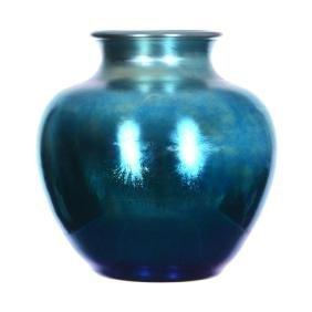 """9.5"""" X 8.5"""" Signed Steuben Aurene Art Glass Vase"""