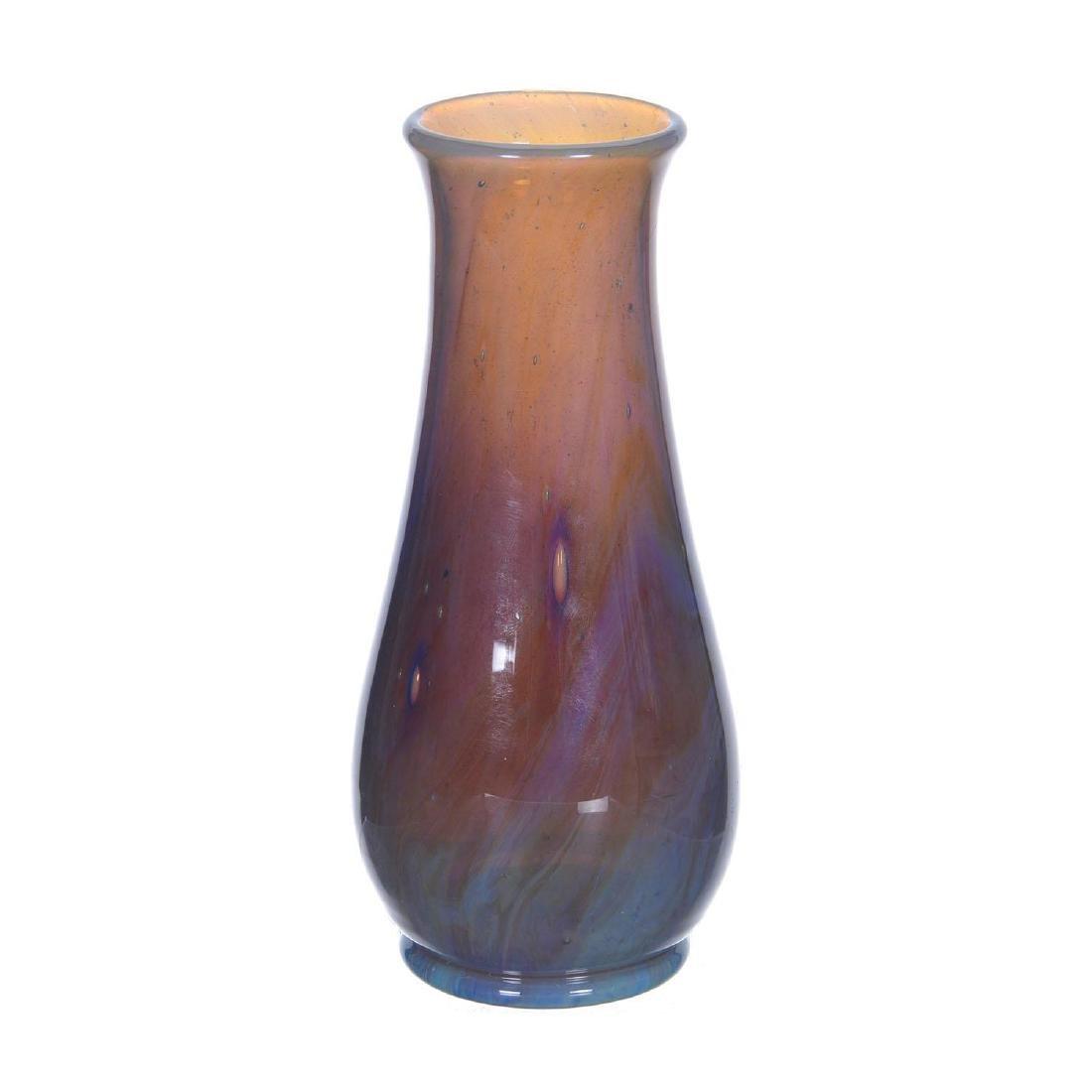 "Rare! 7.5"" Signed L.C.Tiffany-Favrile #V259 Art Glass V"