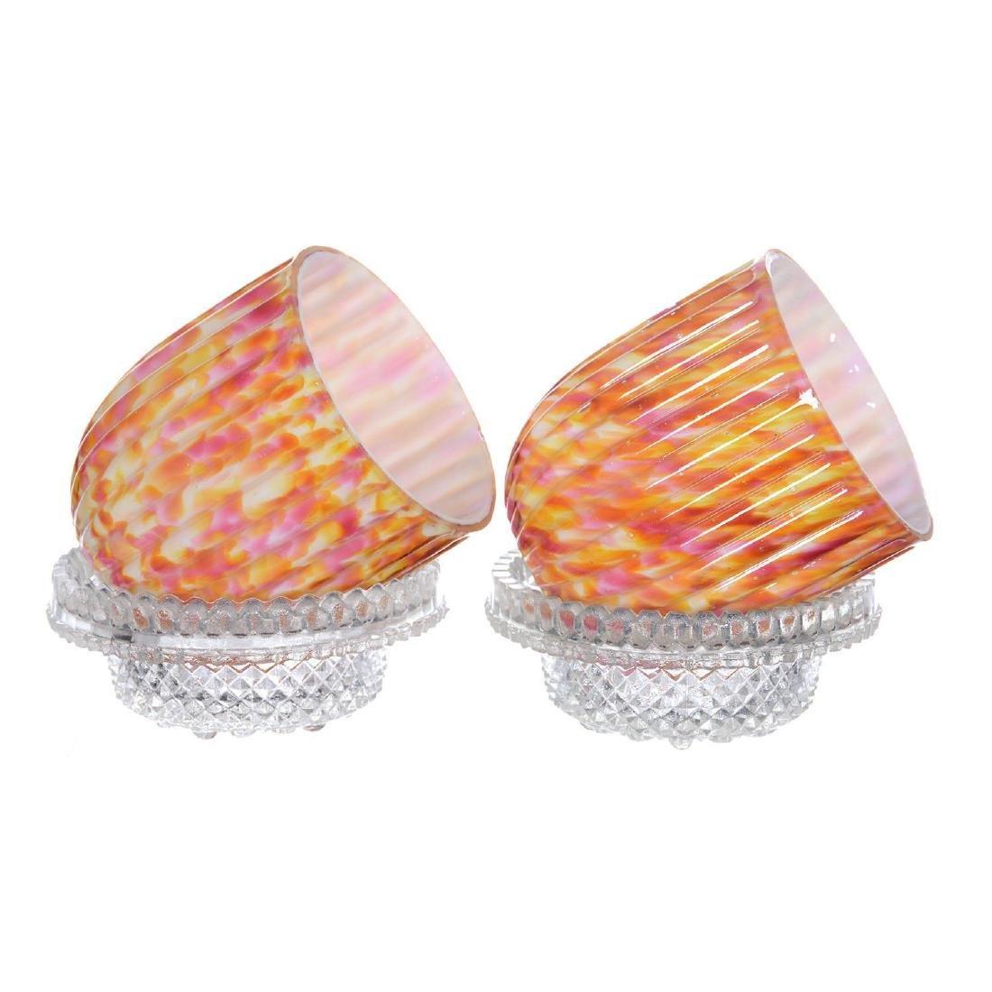 "Pair 5"" Art Glass Fairy Lamps - 2"
