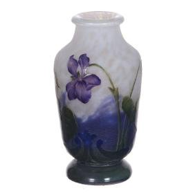 "3.5"" Signed Daum Nancy French Cameo Art Glass Vase"