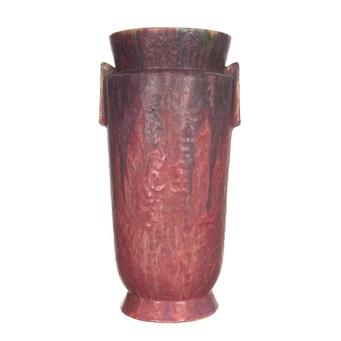 """15"""" Unmarked Roseville Carnelian II Pattern Art Pottery"""