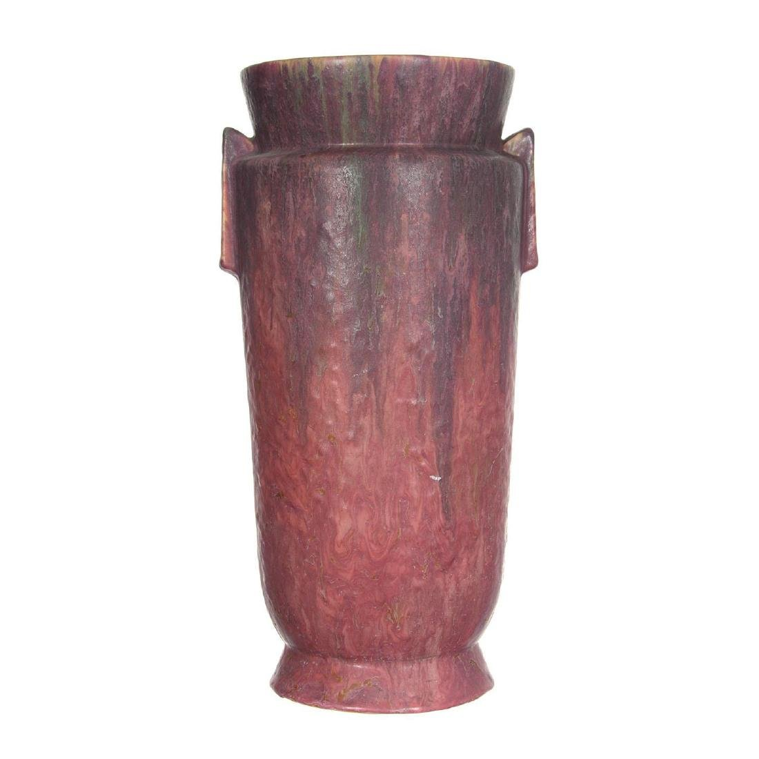 """15"""" Unmarked Roseville Carnelian II Pattern Art Pottery - 2"""