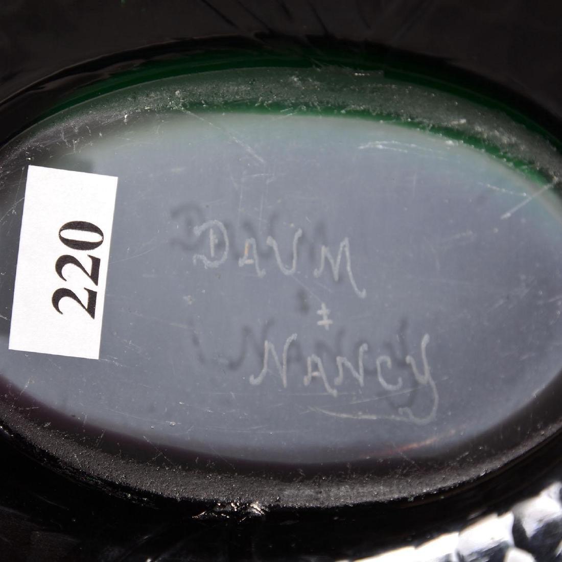 "3.75"" X 11.5"" X 7.75"" Signed Daum Nancy French Cameo Bo - 4"