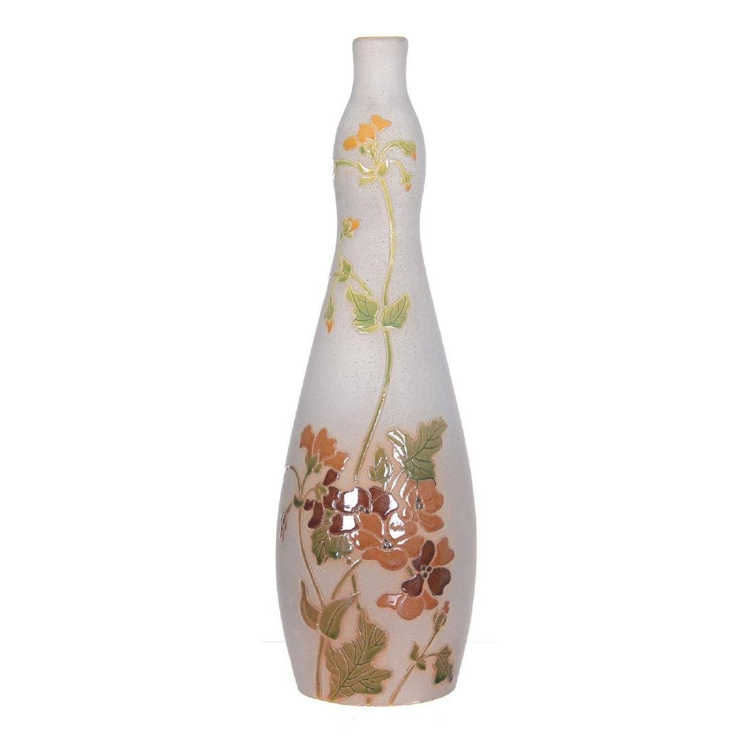 """Rare 11.5"""" Marked Fujiyama Roseville Art Pottery Vase"""
