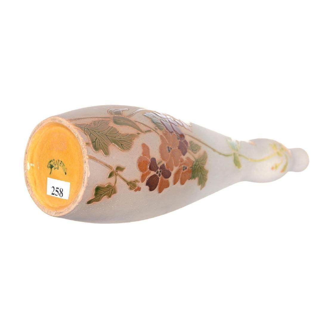 """Rare 11.5"""" Marked Fujiyama Roseville Art Pottery Vase - 3"""