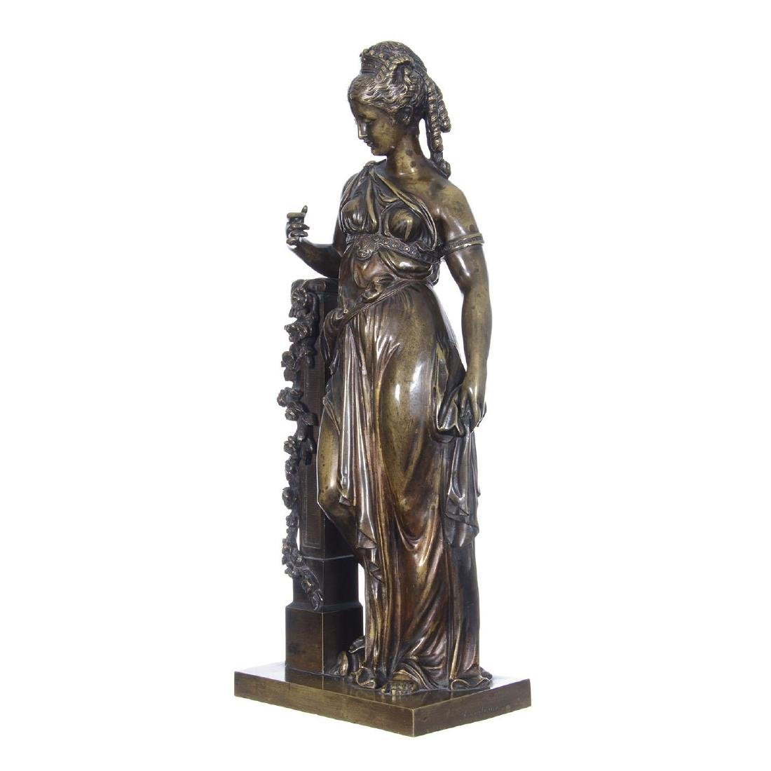 """16.5"""" X 6.25"""" Artist Signed French Bronze Statue"""