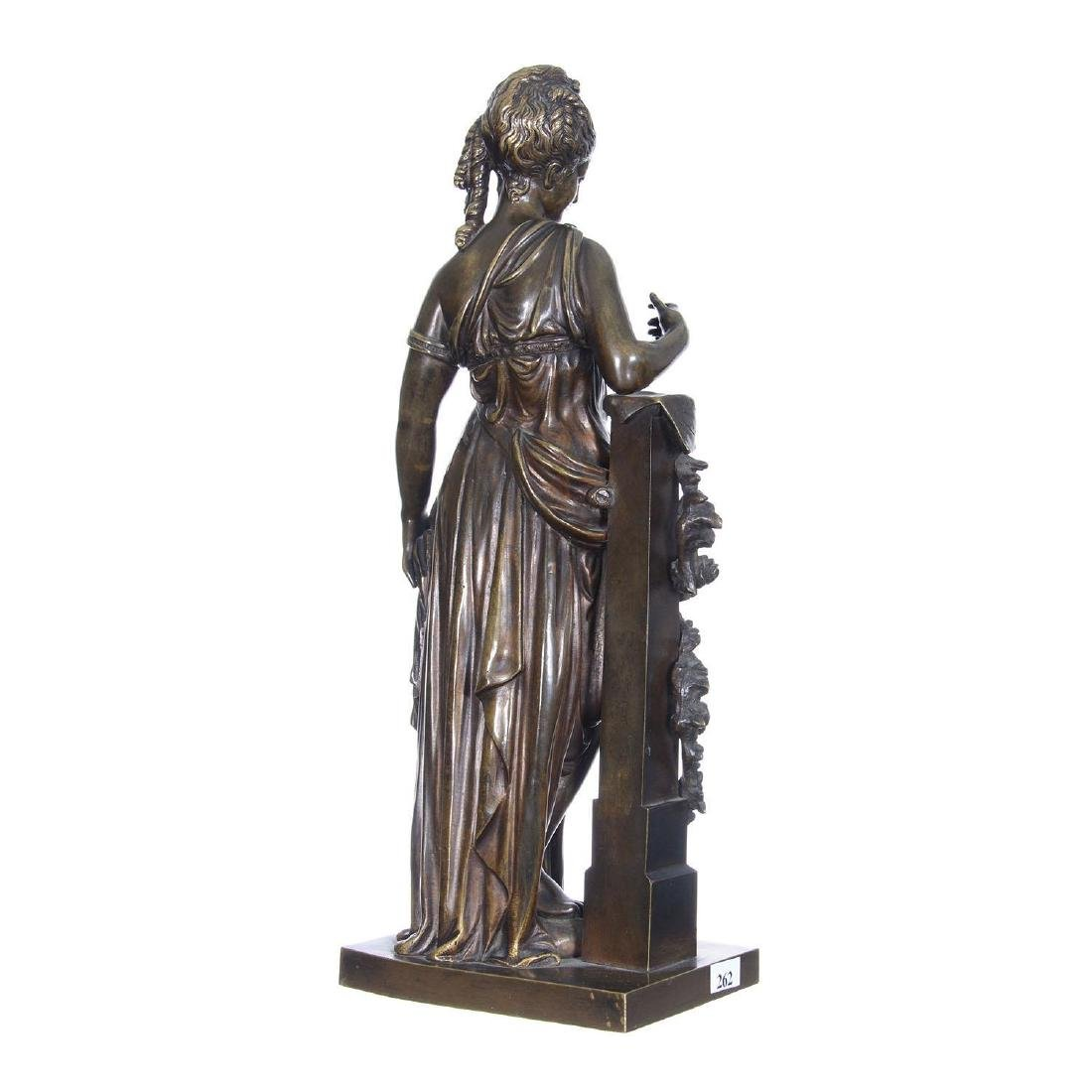 """16.5"""" X 6.25"""" Artist Signed French Bronze Statue - 2"""