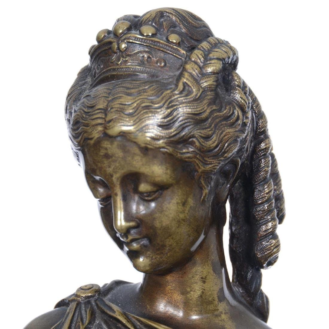 """16.5"""" X 6.25"""" Artist Signed French Bronze Statue - 3"""