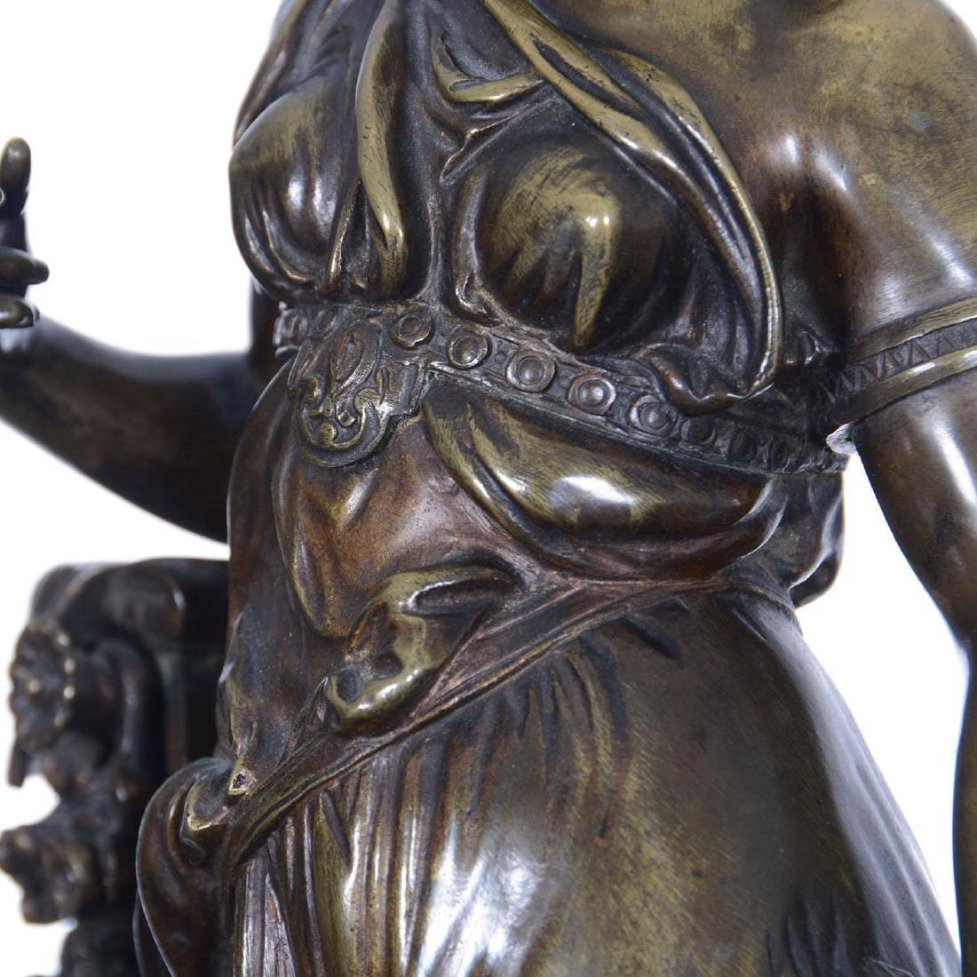 """16.5"""" X 6.25"""" Artist Signed French Bronze Statue - 4"""
