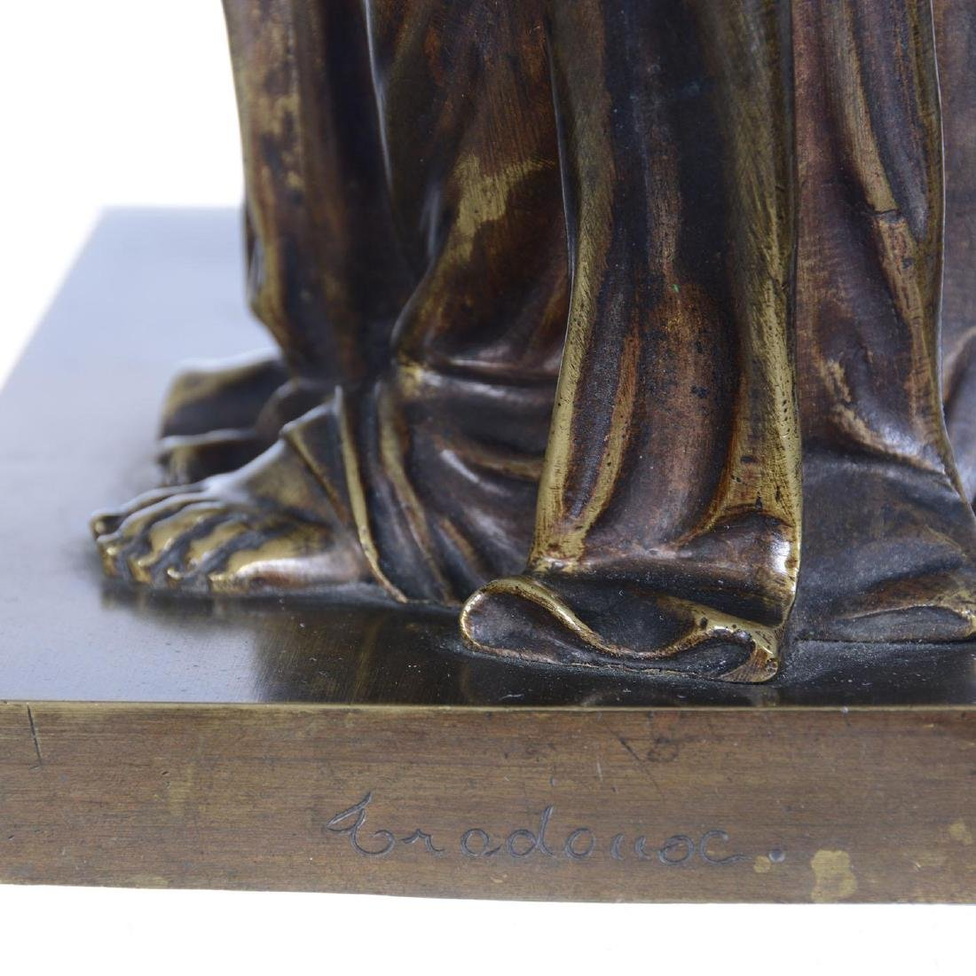"""16.5"""" X 6.25"""" Artist Signed French Bronze Statue - 5"""