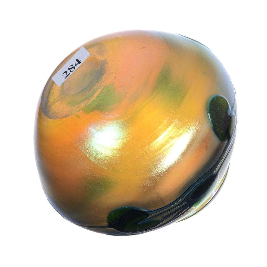 "4.25"" X 5"" Signed Charles Lotton Art Glass Vase - 2"