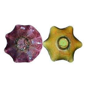 (4) Carnival Glass Bowls