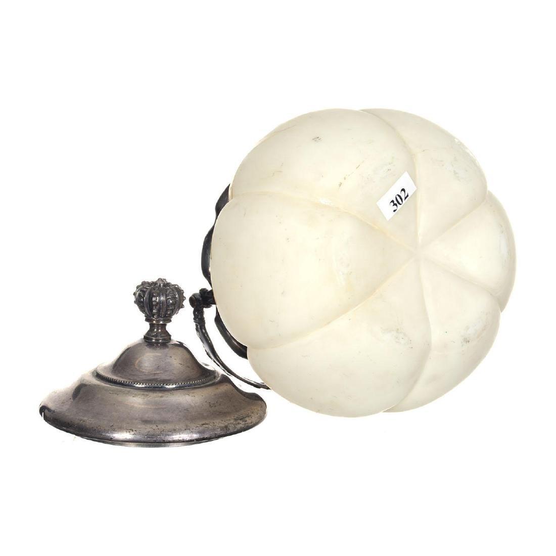 "7.5"" Unmarked Mt. Washington Melon Ribbed Biscuit Jar - 2"