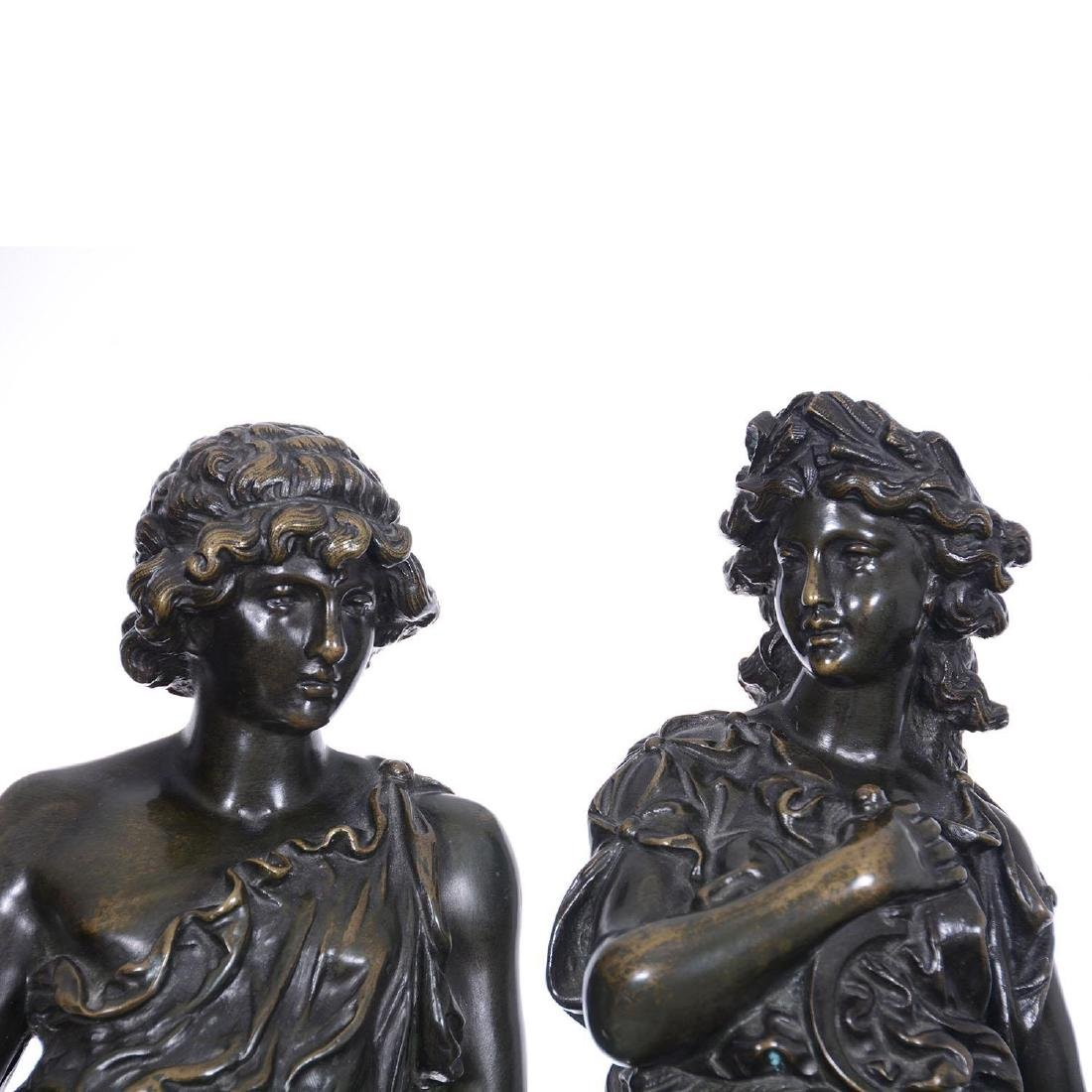 "Pair 16.5"" French Bronze Statues - 2"