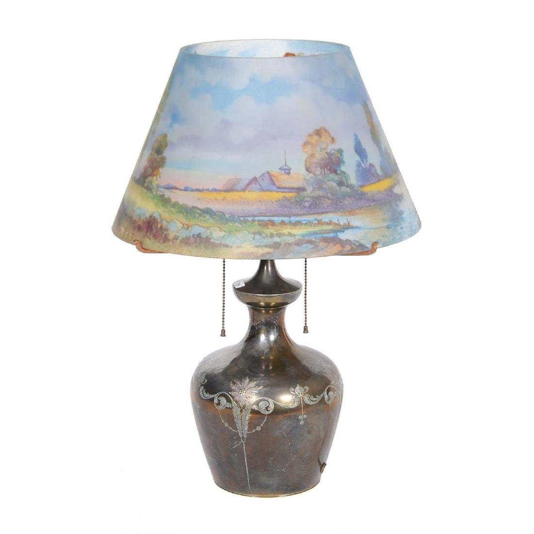 "22.5"" X 16"" Pairpoint Reverse Painted Lamp - 2"