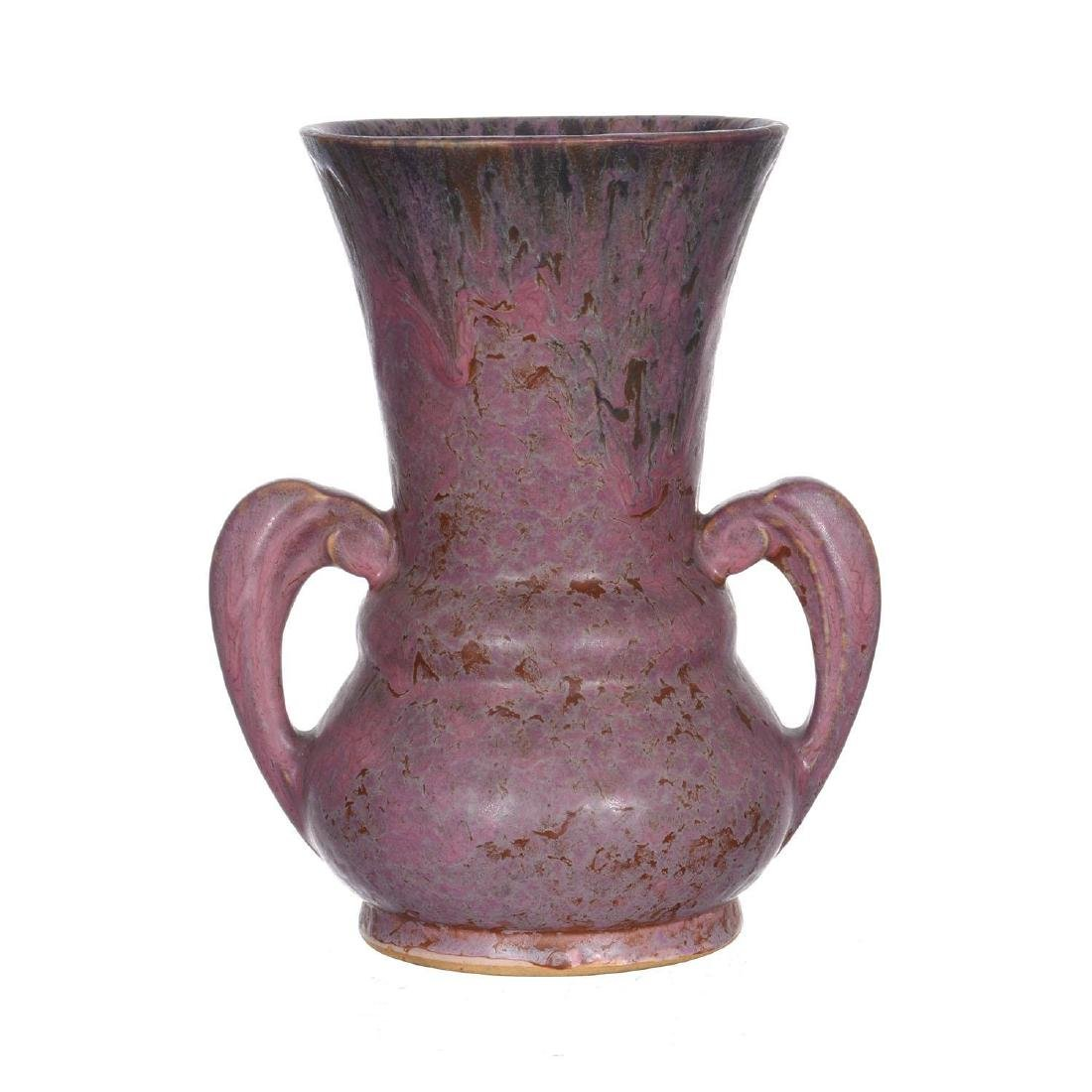 "8.25"" Unmarked Roseville Two-Handled Art Pottery Vase"