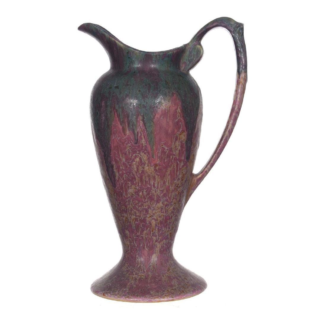 "12.5"" Unmarked Roseville Art Pottery Pedestal Water Pit"