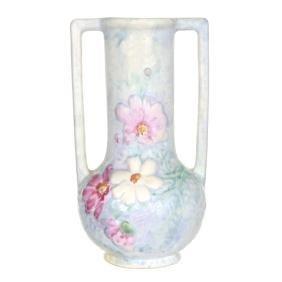 """10"""" Marked Weller Art Pottery Two Handled Vase"""