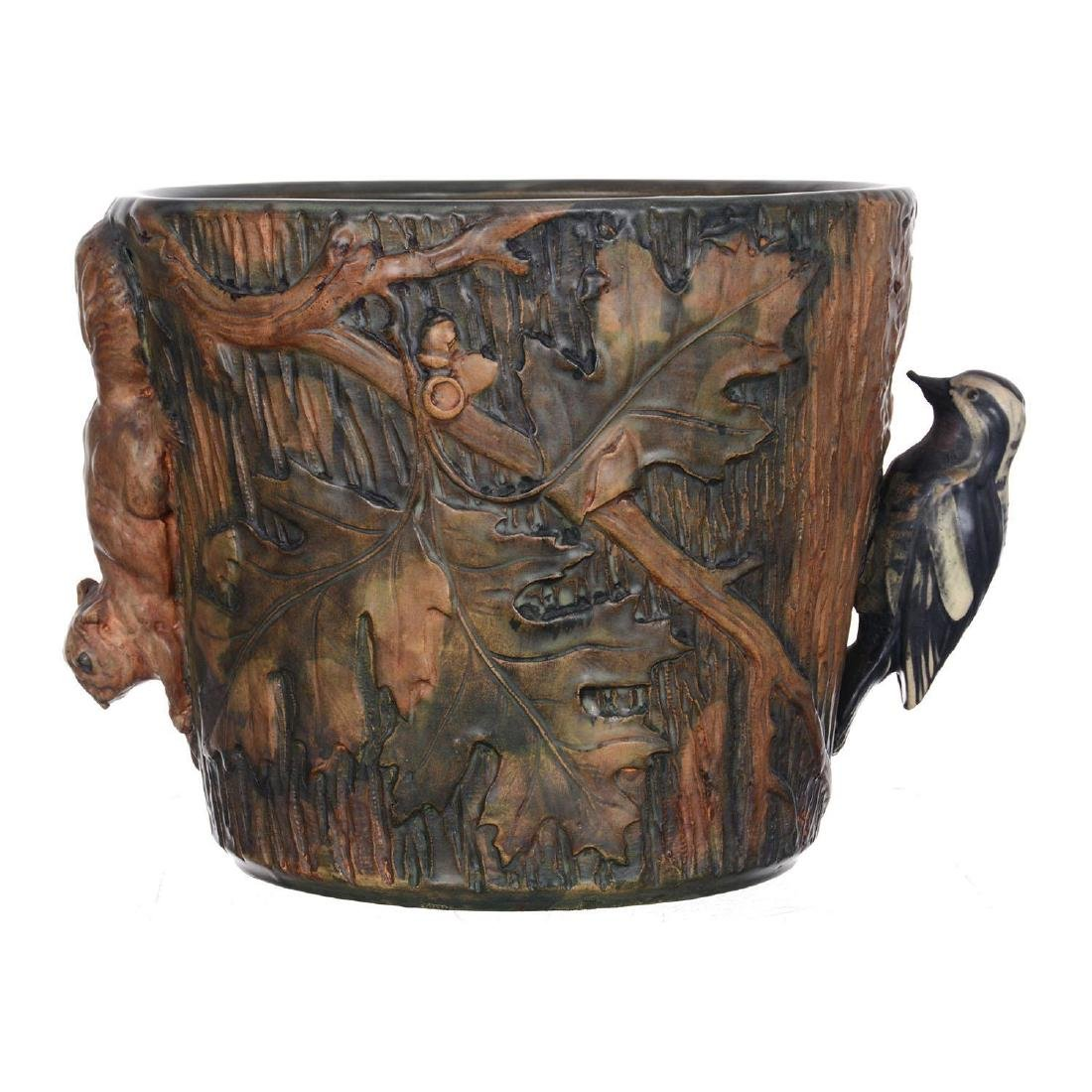 "9.5"" X 11"" Marked Weller Art Pottery Jardiniere"