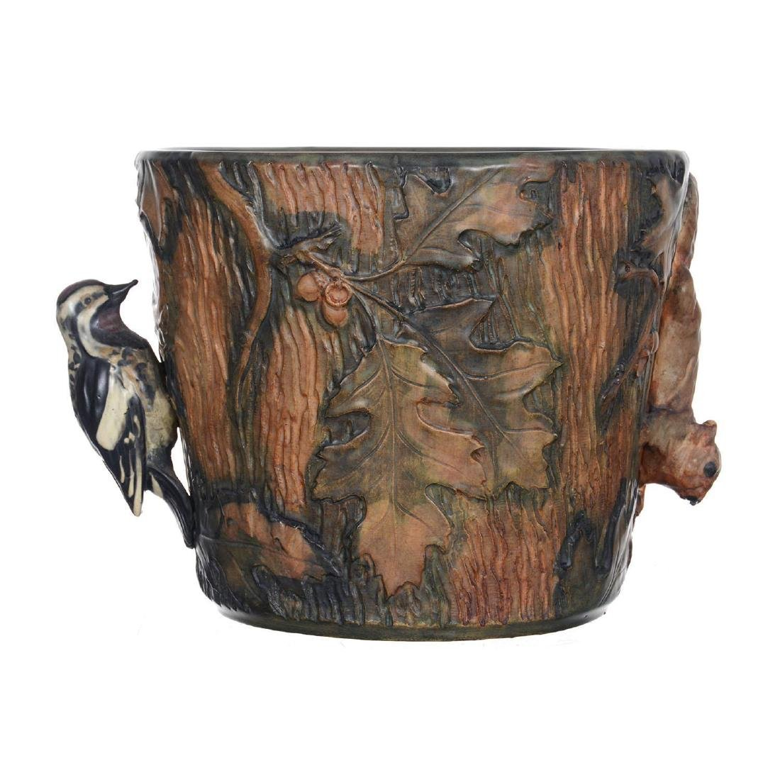 "9.5"" X 11"" Marked Weller Art Pottery Jardiniere - 2"