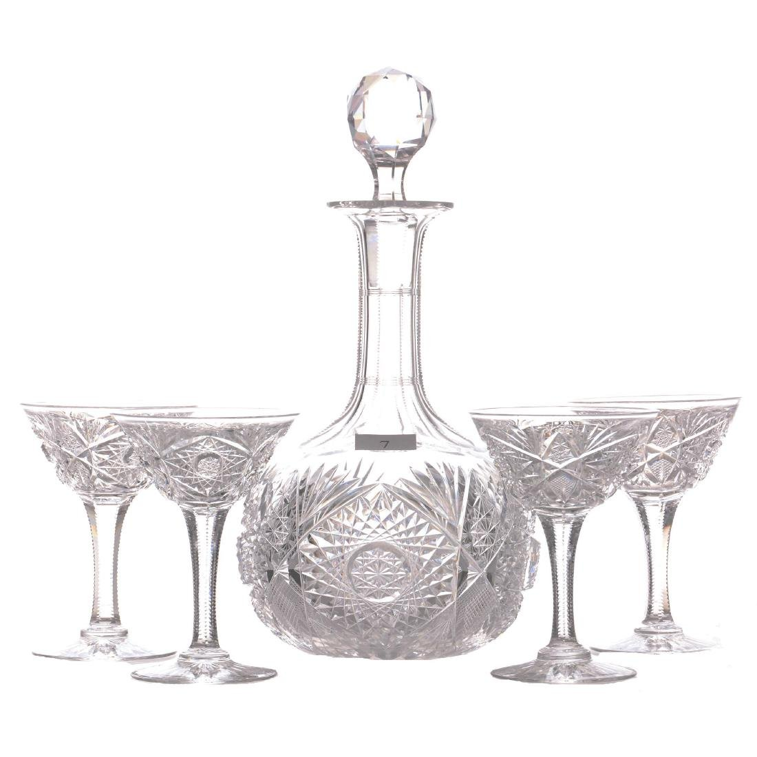 "Liquor Set - 9.75"" Decanter - ABCG - Monarch Pattern by"