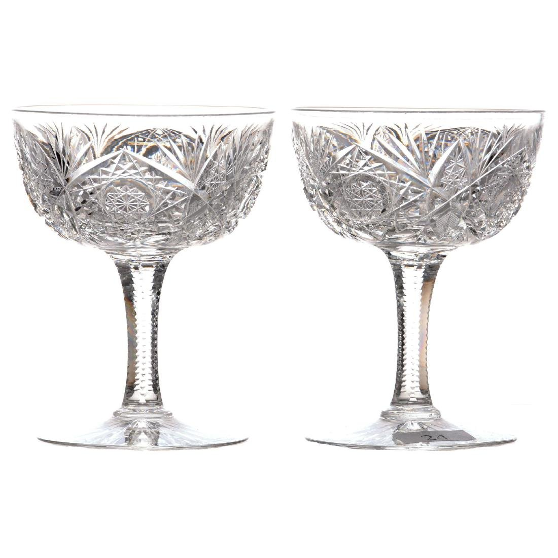 """(14) Champagne Glasses - Approximately 4.375"""" - ABCG"""