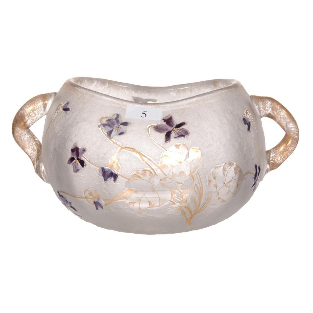 """4.25"""" X 8"""" Signed Daum Nancy French Cameo Art Glass Vas"""