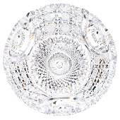 American Brilliant Cut Glass Flat Bottom Bowl  4 X 10