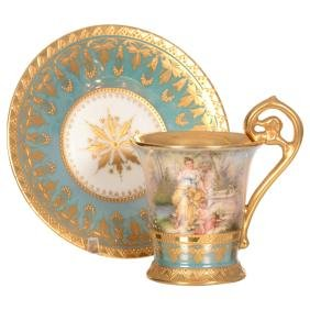 "3.75"" X 5"" Royal Vienna Demitasse Cup and Saucer"