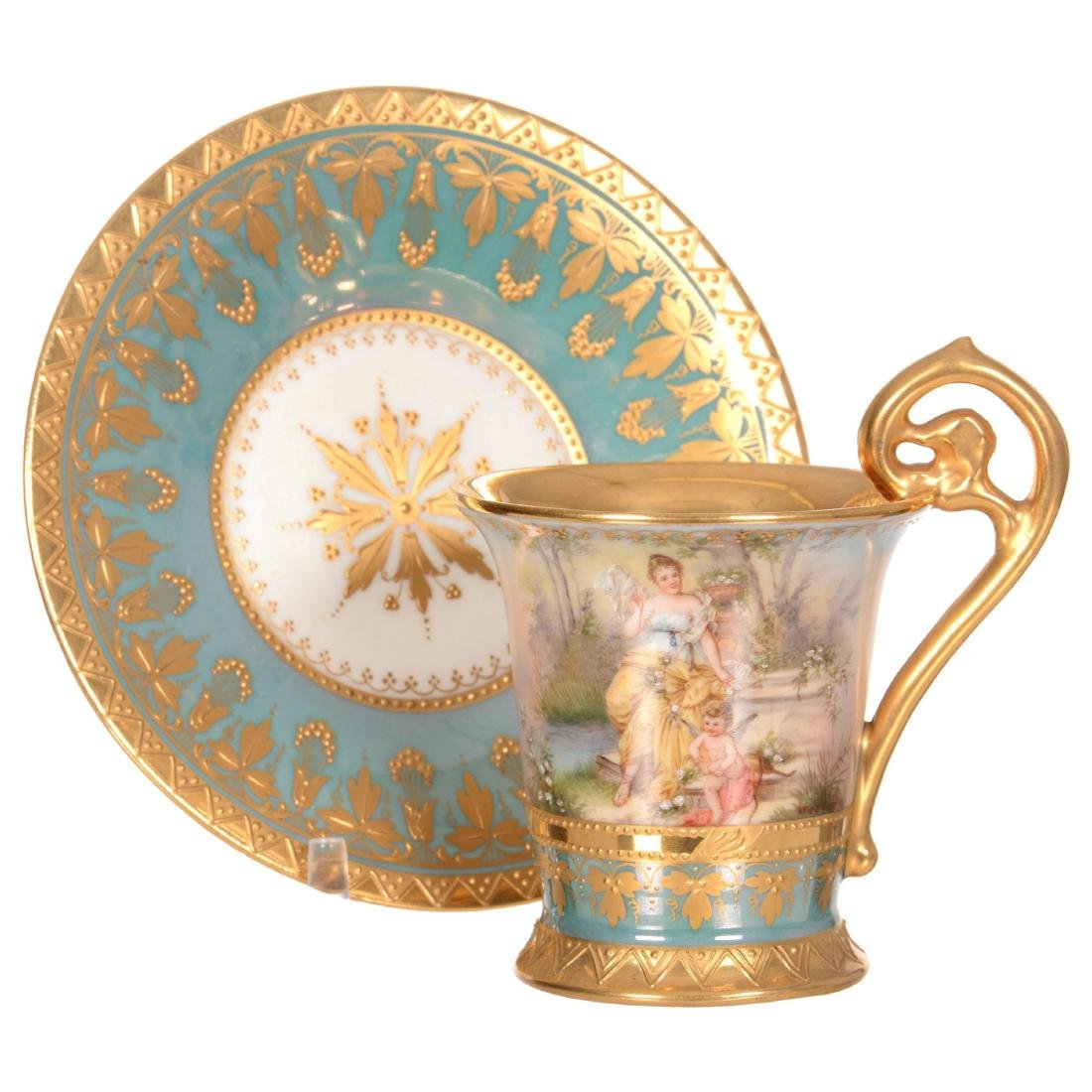"""3.75"""" X 5"""" Royal Vienna Demitasse Cup and Saucer"""