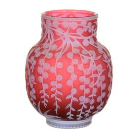 "Super 3.25"" English Cameo Art Glass Cabinet Vase"
