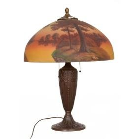 "23.5"" X 18"" Reverse Painted Table Lamp"