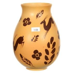 "8"" Marked Weller Art Pottery Vase"