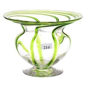 "5.25"" X 7"" Fibrillose Art Glass Vase"
