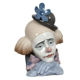 "10.25"" Marked ""Lladro #5120"" Clown Bust"